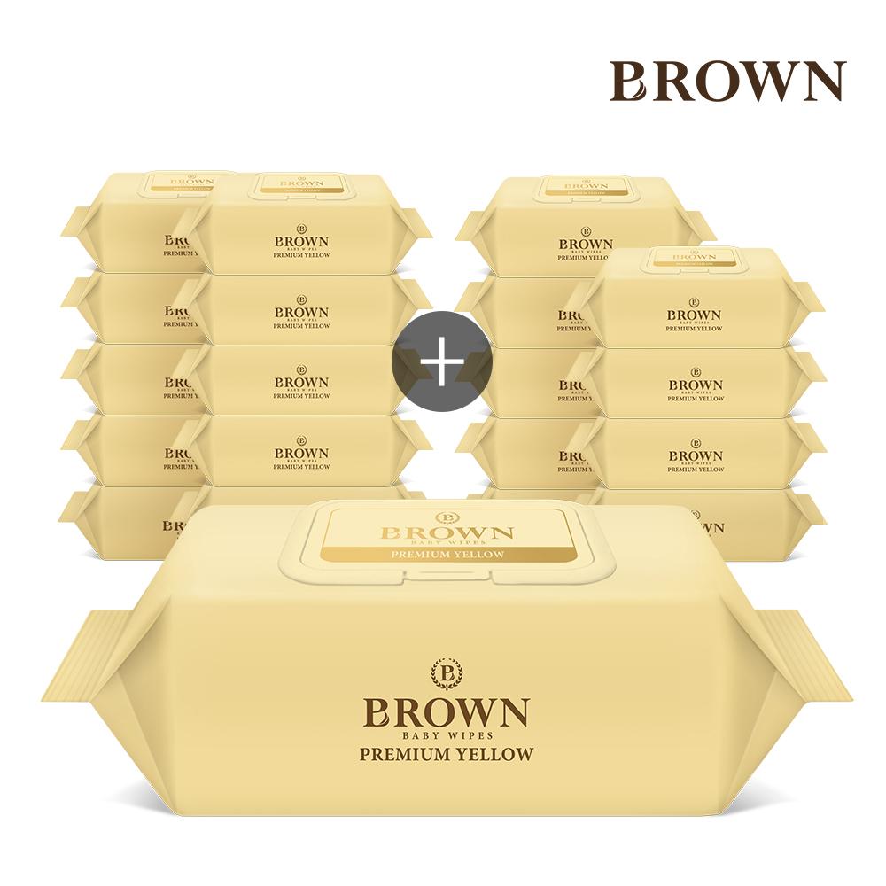 브라운 프리미엄 아기물티슈 캡형 72매 10+10팩