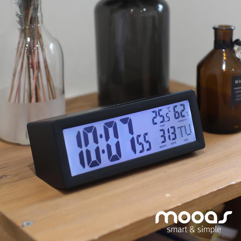 무아스 탁상시계 날짜 온도 습도