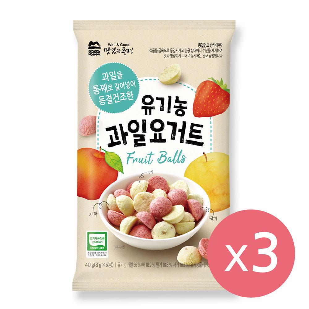 [맛있는풍경] 유기농 과일 요거트 X 3봉