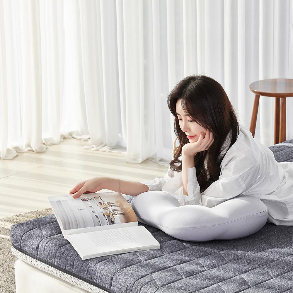 로미홈 9존 마약매트리스 침대 접이식 바닥 토퍼 메모리폼 라텍스 3단 수면매트