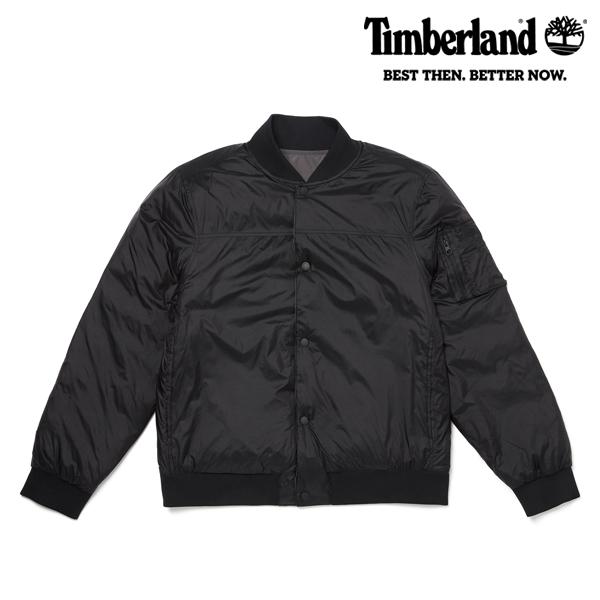 [팀버랜드] 남성 양면 봄버 자켓 - 블랙 A1YD8