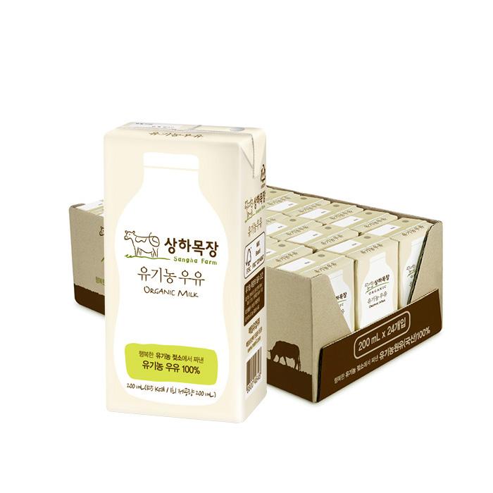 [오플]상하목장 유기농 우유 200ml 24팩 3박스 총72팩_무배
